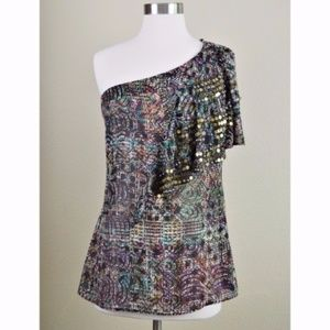 🔻🔻🔻 CLEARANCE!!! NANETTE LEPORE SILK Top Sequin